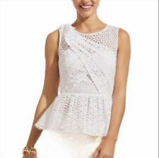 Lilly Pulitzer Diara Top  Sz 6 White Oval Eyelet BNWT ~ BEST DEAL