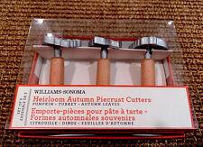 WILLIAMS SONOMA HEIRLOOM AUTUMN PIECRUST CUTTERS PUMPKIN TURKEY THANKSGIVING NEW