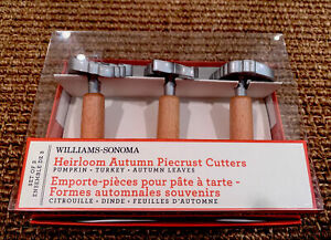 WILLIAMS SONOMA HEIRLOOM AUTUMN PIECRUST CUTTERS PUMPKIN TURKEY THANKSGIVING NEW