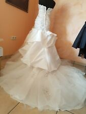 Neu Hochzeitskleid Brautkleid ivory Gr.36 S Mermaid Meerjungfrau Schleppe Strass