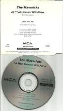 Raul Malo THE MAVERICKS All that Heaven PROMO CD Single BRUCE SPRINGSTEEN Trk