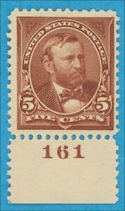 UNITED STATES 255 - MINT NEVER HINGED PLATE # SINGLE ** OG VERY FINE NO FAULTS !