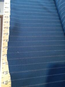 """BLACK WITH BEIGE PINSTRIPE POLYESTER FABRIC 3MX 60""""WIDE END OF ROLL  0283A"""