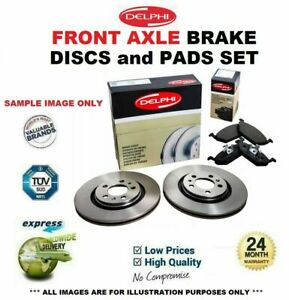 Front Axle BRAKE DISCS + brake PADS for RENAULT MEGANE Coupe 1.2 TCe 2013->on