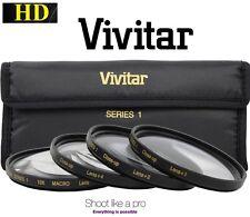 4-Pc Vivitar Close Up +1+2+4+10 Macro Lens Set For Canon Vixia HF S20 S21 S200