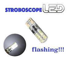 1 Ampoule w5w T10 24 LED Blanc Veilleuses  Position STROBO FLASHING Stroboscope