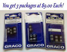 Graco 24F039 Handheld Spray Gun Tip Filter, 9 Gun Tip Filters!