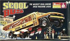 1970s MONOGRAM S'cool Bus model replica fridge magnet - new!