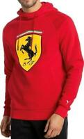 Puma Ferrari Men's Premium Sweater Track Jacket Big Shield Hoodie Red 76213401