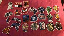 24 Pcs/Lot Stickers MARVEL Avengers Super Hero DC For Car Laptop Skatboard Decal