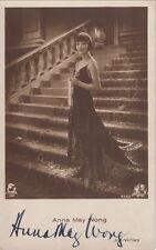 Anna May Wong originale con firma Iris AK della 20er
