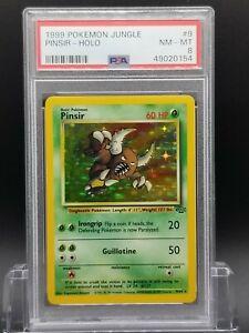 PSA 8 NM-MT Pinsir Jungle Unlimited Holo Rare Pokemon Card 9/64