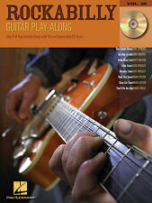 Learn ROCKABILLY GUITAR Play-along Music TAB Book & CD STRAY CATS ELVIS SONGS