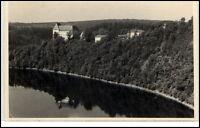 Schloß Burgk Sachsen DDR Ansichtskarte 1961 gelaufen Blick vom Röhrensteig