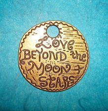 Pendant Moon Charm Stars Love Beyond Moon & Stars Charm Romantic Paris CHIC
