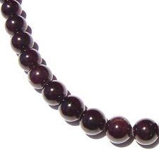 """15.5"""" Red Garnet Round ~33 Beads 12mm K2429"""