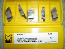 x5 KENNAMETAL NG3M300LK KCU25 3MM WIDE TOP NOTCH GROOVING PARTING INSERTS NEW