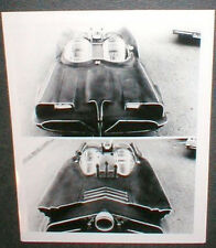 1960's Batmobile Front & Back View Black & White 8 1/2 X 11 inch  Picture