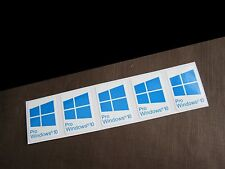 5 PCS Windows 10 Pro Blue Sticker Badge Logo Decal Cyan Color Win 10 USA Seller