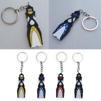 Scuba Flipper Key Chain Keyring Charm Diver Gift for Car Keys Wallet Pendant