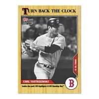 2020 Topps Carl Yasrzemski YAZ #11 Turn Back the Clock 2 HR Opening Day 1968 PS
