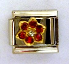 9mm Classic Size Italian Charms Birthstone Petal July Ruby