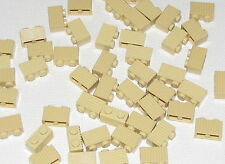 Lego Lot of 50 New Tan Bricks Modified 1 x 2 with Grille Grill Pieces