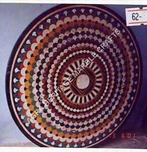"""36"""" Marble Dining Top Center Table Mosaic Inlay Decorative Hallway Garden H5015A"""