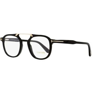 Tom Ford TF5495 5495 001 Eyeglasses Black/Gold Optical Frame 48mm New Authentic