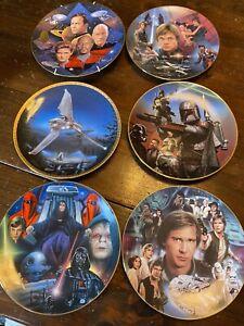 Vintage Hamilton Plate collection Star Wars Star Trek Boba Fett Palpatine Solo