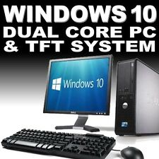 full dellhp dual core desktop tower pc u0026 tft computer system windows 10 u0026 4gb