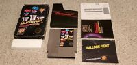 Balloon Fight Nintendo NES 5 Screw Hang Tab BLACK BOX Complete CIB Manual Lot!!!