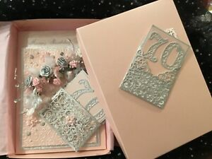 MUM BOXED BIRTHDAY CARD SPECIAL 70 ,30, 40, 50, 60, 80, LARGE PINK & SILVER