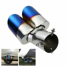 Dual Exhaust Pipe Tailpipe Stainless Steel Tail Muffler Tip Throat Chrome Trim