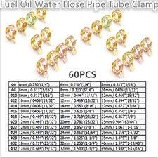 60pcs Dia.12-22mm Spring Clip Fuel Oil Water Hose Clip Pipe Tube Clamp Fastener