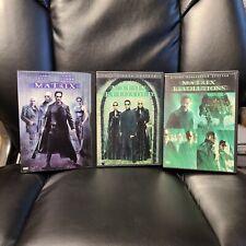 Lot of Matrix 1 2 3 Dvd Movies reloaded revolutions keanu reeves fishburne