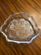 Mikasa Christmas Carolers Clear Embossed Candy Dish