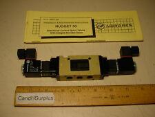 """Norgren Nugget 50 1/8"""" npt 5-way solenoid valve 24 vdc coil"""