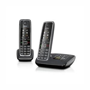 Gigaset C 530 A Duo schwarz, Schnurlostelefon mit Anrufbeantworter, CLIP