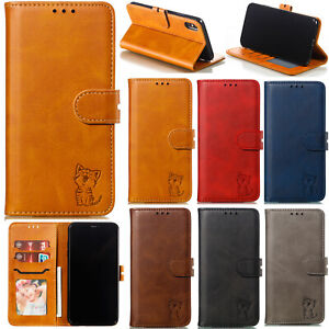Classic Flip Magnetic PU Leather Stand Lot Card Pocket Wallet Case Soft Cover