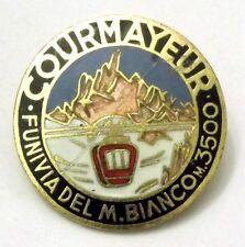 Spilla Courmayeur Funivia Del Monte Bianco M.3500