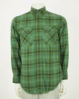 Duluth Trading Co. Free Swingin' Green Plaid Flannel Shirt Mens Small
