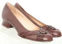 Clarks Artisan Brown Buckle Slip On Low Heel Pumps 74568 Women's US 6 M