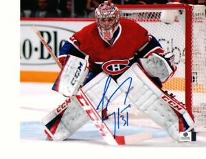 Carey Price Montreal Canadiens Autographed 8x10 Red Jersey Photo