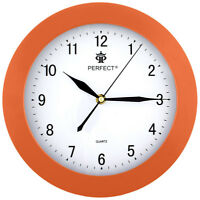 Traditional wall clock - PERFECT - orange case , Ø 26 cm
