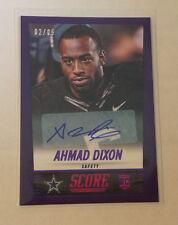 2014 Score AHMAD DIXON RC AUTO #2/5 Made Purple SSP Cowboys/Baylor Rookie Panini