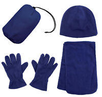 Women's Winter Fleece Cap With Scarf Gloves Hat Accessories Set