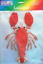 homard en papier alvéolé decoration sur La mer fete soirée theme mariage decor