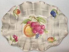 Vintage 1950s James Kent Old Foley 6407 Oval Fluted Plate Shallow Dish England