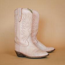 Calamex Pink Leather Cowboy Biker Boots Vintage Retro Women's UK 4 EUR 37 US 6